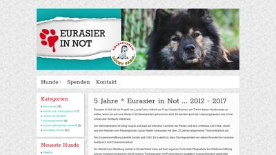 Eurasier in Not